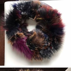 NWOT Genuine Fox Fur Circle Scarf / Neck Warmer